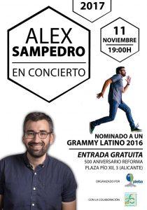 Alex Sampedro en concierto en Pieba